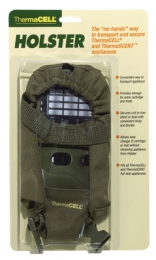 Holster Accessory With Clip For ThermaCell or ThermaScent Units