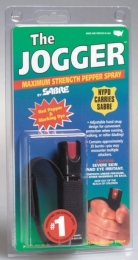 Jogger Unit Sabre Red USA Defense Spray .75 Ounce Black