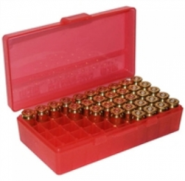 P50 Fliptop Box Handgun .45 ACP/10mm/.40 S&W/.41 AE Clear Red