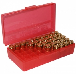 P50 Fliptop Box Handgun .380-9mm Clear Red