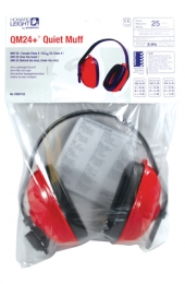 QM 24+ Earmuff Multiple Position Earmuff Red/Black Nosie Reducti
