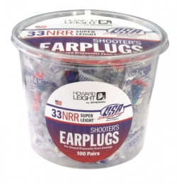 Super Leight USA Tub Disposable Foam Ear Plugs Red/White/Blue 10