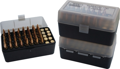 Case-Gard 50 Rifle Ammo Boxes .22 Bench Rest & 6mm PPC Mechanica