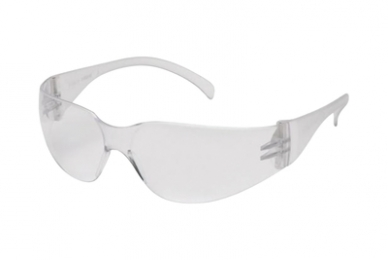 Intruder Shooting Glasses Clear Frame Clear-Hardcoated Lens
