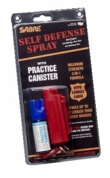 Key Ring Self-Defense Spray In Hardcase with Training Unit .54 O