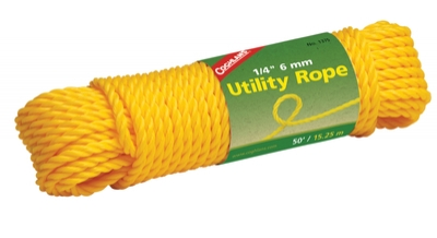 Utility Rope 1/4 Inch x 50 Feet Yellow