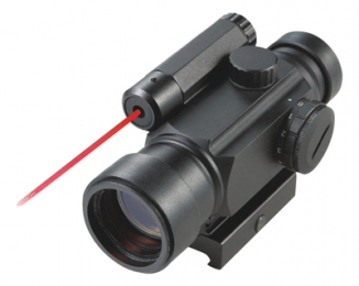 Illuminated Dot Site 4x30mm Green/Red Laser Illuminated 5 MOA Dot Reticle Matte Black