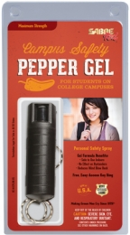 Campus Safety Pepper Gel .54 Ounce Black