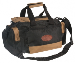 Deluxe Range Bag Multiple Pockets Water Resistant Tan and Black