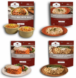 Wise Sampler Kit 4 Entrees w/ 2 10oz servings per pouch