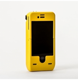 YELLOW JACKET STUN GUN IPHONE 4 4S CASE YELLOW